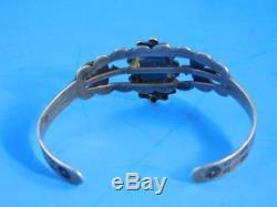 Silver Thunderbird Bracelet Fred Harvey Era Navajo Coin Cuff Bracelet