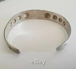 Sterling Silver Fred Harvey Dainty Cuff Bracelet