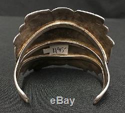 Sterling or Coin Silver Navajo Cuff Bracelet Fred Harvey Era Item UNIQUE