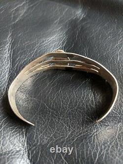 Turquoise Fred Harvey Era Navajo Sterling Silver ARROW Bracelet