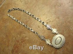 Ultra Fine OLD Fred Harvey Era Navajo Sterling Silver ROYSTON Turquoise Necklace