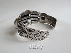 VTG Fred Harvey Style Native American Navajo Sterling Silver Turquoise bracelet