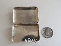 VTG Fred Harvey era style sterling silver Navajo thunderbird pill box