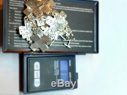 VTG Large Sterling Silver Navajo Cross Necklace Fred Harvey Era Hand Stamped D4