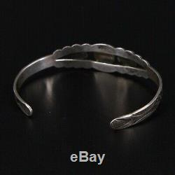 VTG Sterling Silver NAVAJO Fred Harvey Turquoise 6.25 Cuff Bracelet 9.5g