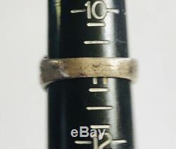 Very Vtg Fred Harvey Sterling Silver 925 Signet Ring Kachina Patina Sz 11 Rare