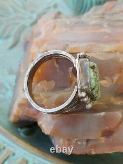 Vintage 1930's Fred Harvey Era Turquoise Sterling Silver Ring