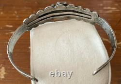 Vintage 1930s-1940s Fred Harvey Style Navajo Sterling Silver Cuff Bracelet