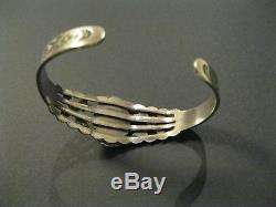Vintage 1930s Fred Harvey sterling silver turquoise bracelet