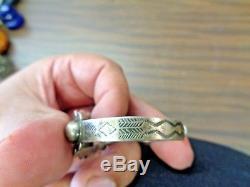 Vintage 1930s fred harvey era IH coin silver bracelet 15 grams