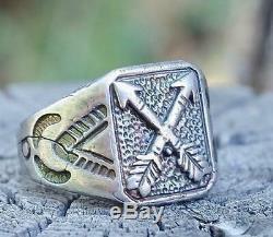 Vintage FRED HARVEY Era Silver Crossed Arrows Ring Size 7 1/2 RRL