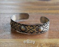 Vintage Fred Harvey Era Coin Silver Cuff Bracelet With Crossed Arrows