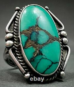 Vintage Fred Harvey Era Navajo Sterling Silver Turquoise Ring GORGEOUS