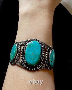 Vintage Fred Harvey Sterling Silver Large ARROWHEAD Cuff Bracelet