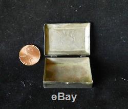 Vintage Large NAVAJO Sterling Silver Pill Box 1-5/8 Fred Harvey Era