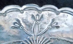 Vintage NAVAJO SILVER ASH TRAY Fred Harvey Era 27.5 GramsQuality Stamp Work