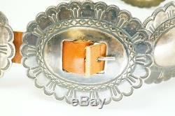 Vintage Old Fred Harvey Era Navajo Sterling Silver Concho Belt