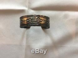 Vintage native American Navajo Fred Harvey Era Silver Arrow cuff Bracelet