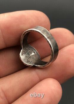 Vtg 1940's Fred Harvey Era Navajo Whirling Log Sterling Silver Stamped Ring