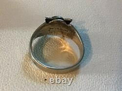 Vtg 5 Small Fred Harvey Era Turquoise Sterling Silver Rings Thunderbird Sz 1.5-6