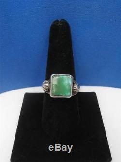 Vtg Fred Harvey Era Navajo Natural Royston Turquoise Sterling Silver Ring Size 9