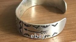 Vtg Fred Harvey Era Sterling Silver 925 Cuff Bracelet Whirling Logs 7 Nice