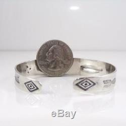 Vtg Fred Harvey Era Whirling Logs Native American Sterling Silver Bracelet LFK5