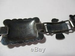 Vtg Sterling Silver Concho Belt withTurquoise-Southwest-Navajo, Fred Harvey, Native