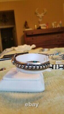 Vtg Sterling Silver NAVAJO Bracelet cuff OLD PAWN-era Fred Harvey