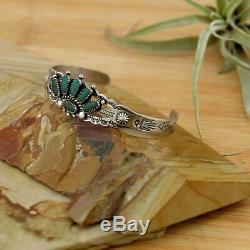 Vtg Sterling Silver Thunderbird Fred Harvey Navajo Turquoise Cuff Bracelet