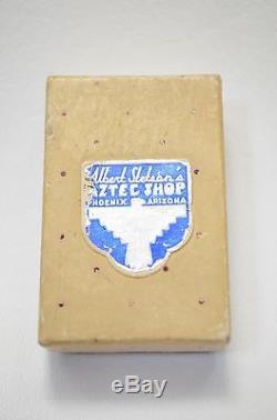 Ancien Pion Vtg Navajo Piquet De Poste Pins Tournants Turquoise Argent Fred Harvey