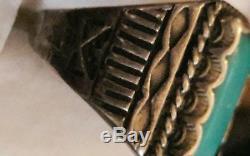 Bague Fred Harvey Vintage En Argent Sterling Avec Turquoise Pour Homme
