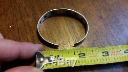 Bracelet En Argent Sterling À Croix Gammée Des Années 1930 De Fred Harvey Era Whirling Logs