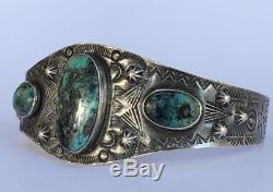 Bracelet Frederic Era Navajo Morenci En Argent Sterling Avec Pointes De Flèche