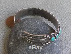 Bracelet Manchette Vintage Classique En Argent Sterling Fred Fred