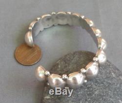 Bracelet Manchette Vintage En Argent Sterling À Motif De Perles En Argent Sterling Fred Fred Era Bell