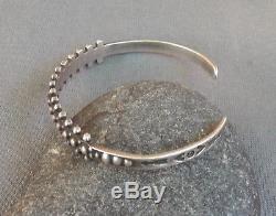 Bracelet Manchette Vintage En Argent Sterling À Motif De Perles Fred Fred Era