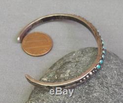Bracelet Manchette Vintage Turquoise Eye Point Fred Fred Era