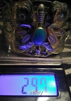 Bracelet Papillon Fred Harvey Era Navajo Turquoise Argenté