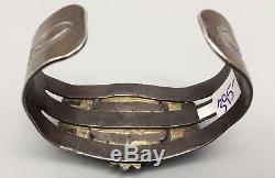 Bracelet Turquoise Vintage, Argent Sterling Manchette Fred Harvey Era