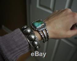 Bracelet Vintage En Argent Sterling, Fred Harvey, Époque Navajo