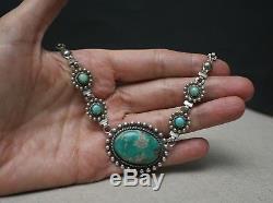 Collier Vintage En Argent Sterling Fred Harvey Era Avec Turquoise