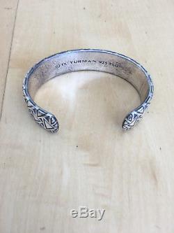David Yurman Bracelet À Manchette Large Southwestern Frontier Argenté Doré Fred Harvey