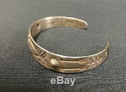 Fred Harvey Era Bracelet En Argent Massif Ou En Argent De Collection Ancien Touriste Era