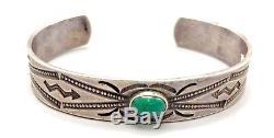 Fred Harvey Era Bracelet Pièce Argent Ou Sterling Ancien Touriste Era Collectible