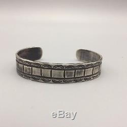 Fred Harvey Era Bracelet Sterling / Coin Silver Mieux Qu'un Bracelet Touristique