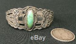 Fred Harvey Era Bracelet Sterling Ou Pièce De Monnaie En Argent Old Tourist Era Collectible