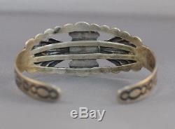 Fred Harvey Era Native American Handmade Pièce Bracelet Argent Turquoise