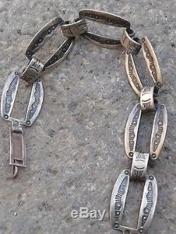 Fred Harvey Era Native American Navajo Bracelet En Argent Sterling
