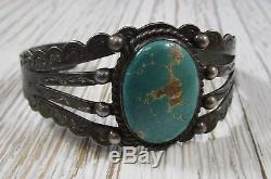 Fred Harvey Era Turquoise Manchette Bracelet Amérindien 23,7 Grammes